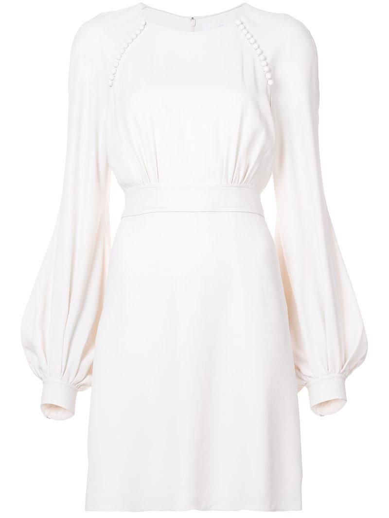 Chloe White Bell Sleeved Skater Dress Cream Long Sleeve Dress Short Lace Dress Long Sleeve Skater Dress [ 1067 x 800 Pixel ]