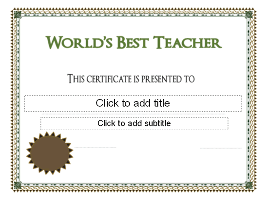Worlds best teacher award certificate pre k graduation worlds best teacher award certificate free certificate templates in academic award certificates category yelopaper Choice Image