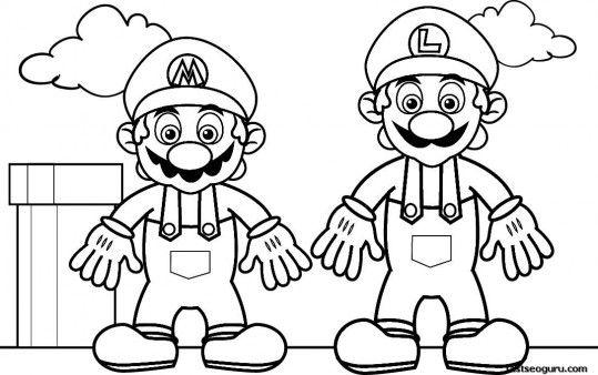 Printable Coloring Pages Super Mario And Luigi Printable Coloring Pages For Kids Super Mario Coloring Pages Mario Coloring Pages Free Coloring Pages