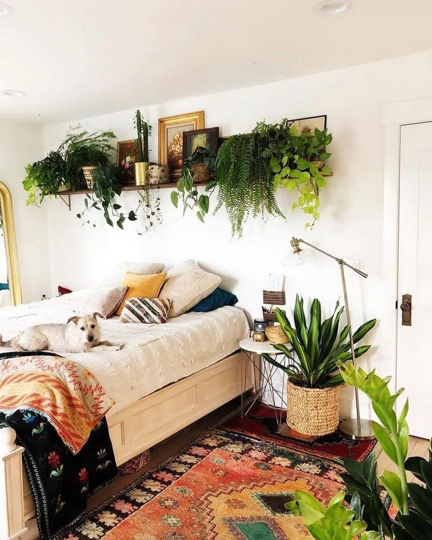 32 Extraordinary Bedroom Decoration Ideas With Best Plant 16 Bedroom Plants Bedroomideas Decor Fikri Bedroom Decor Bohemian Bedroom Design Bedroom Design