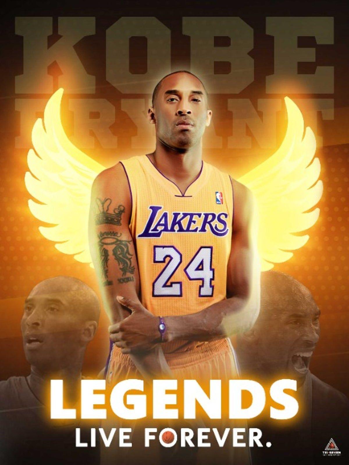 Kobe Poster Legends Live Forever (1) in 2020 Kobe bryant