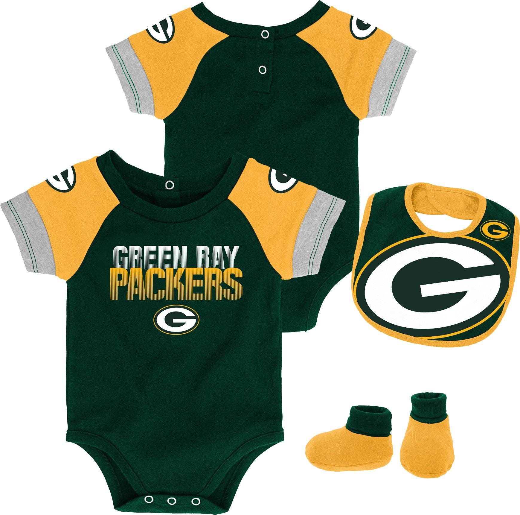 Team Apparel Infant Green Bay 50 Yard Onesie Set Green Bay Packers Team Apparel Green Bay