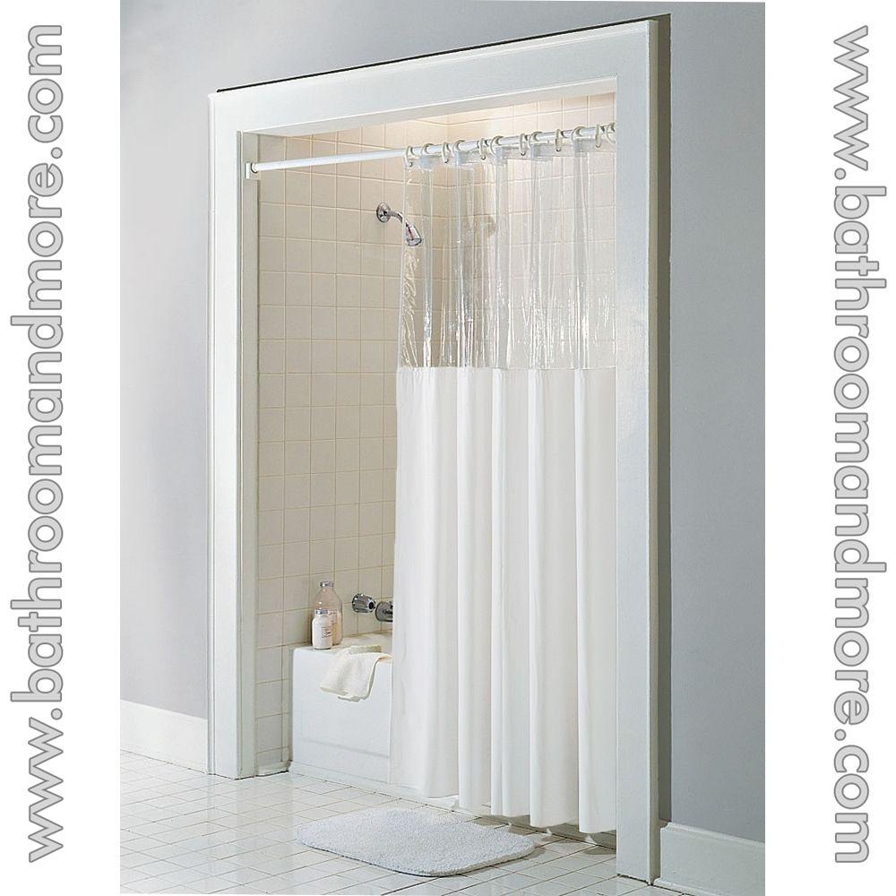 Clear Acrylic Shower Curtain Rod | Shower Curtain | Pinterest ...