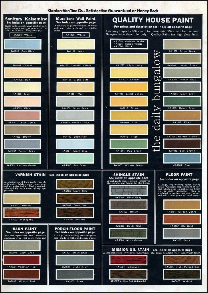https://flic.kr/p/uuYCA5   1931 Gordon Van Tine House Paint   1930's color palette from Gordon-Van Tine