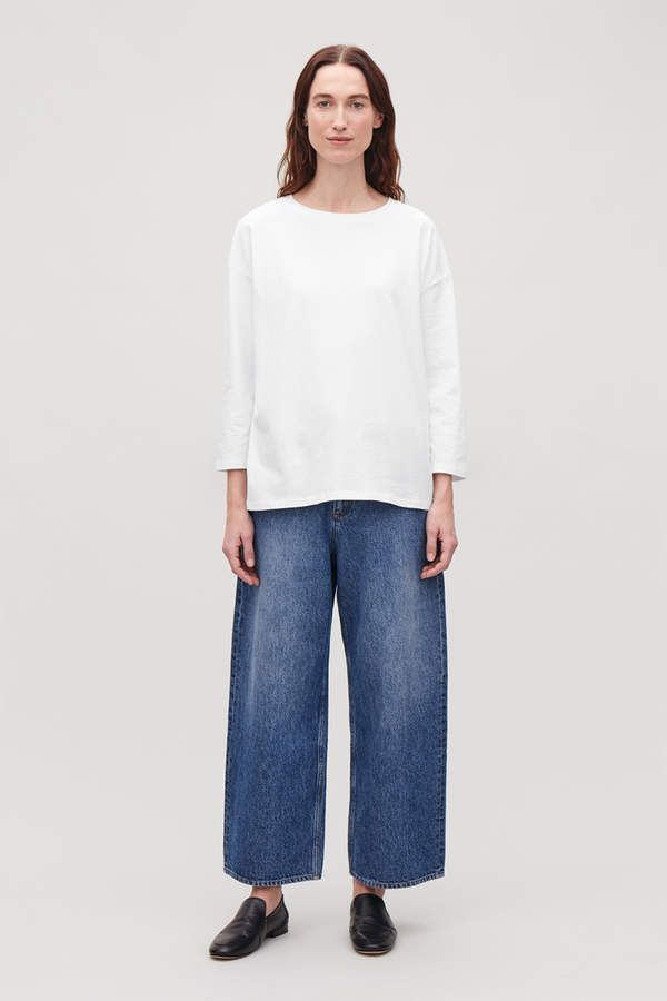 ec6256b8d8c Cos BOXY LONG-SLEEVED COTTON TOP in 2019