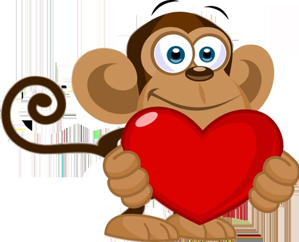 Открытки обезьянки любовь, днем рождения внуку