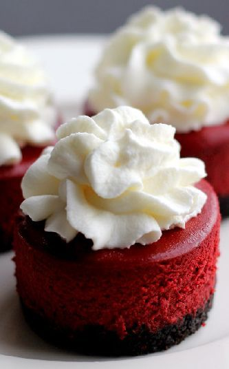 Mini Red Velvet Cheesecakes Best Desserts Red