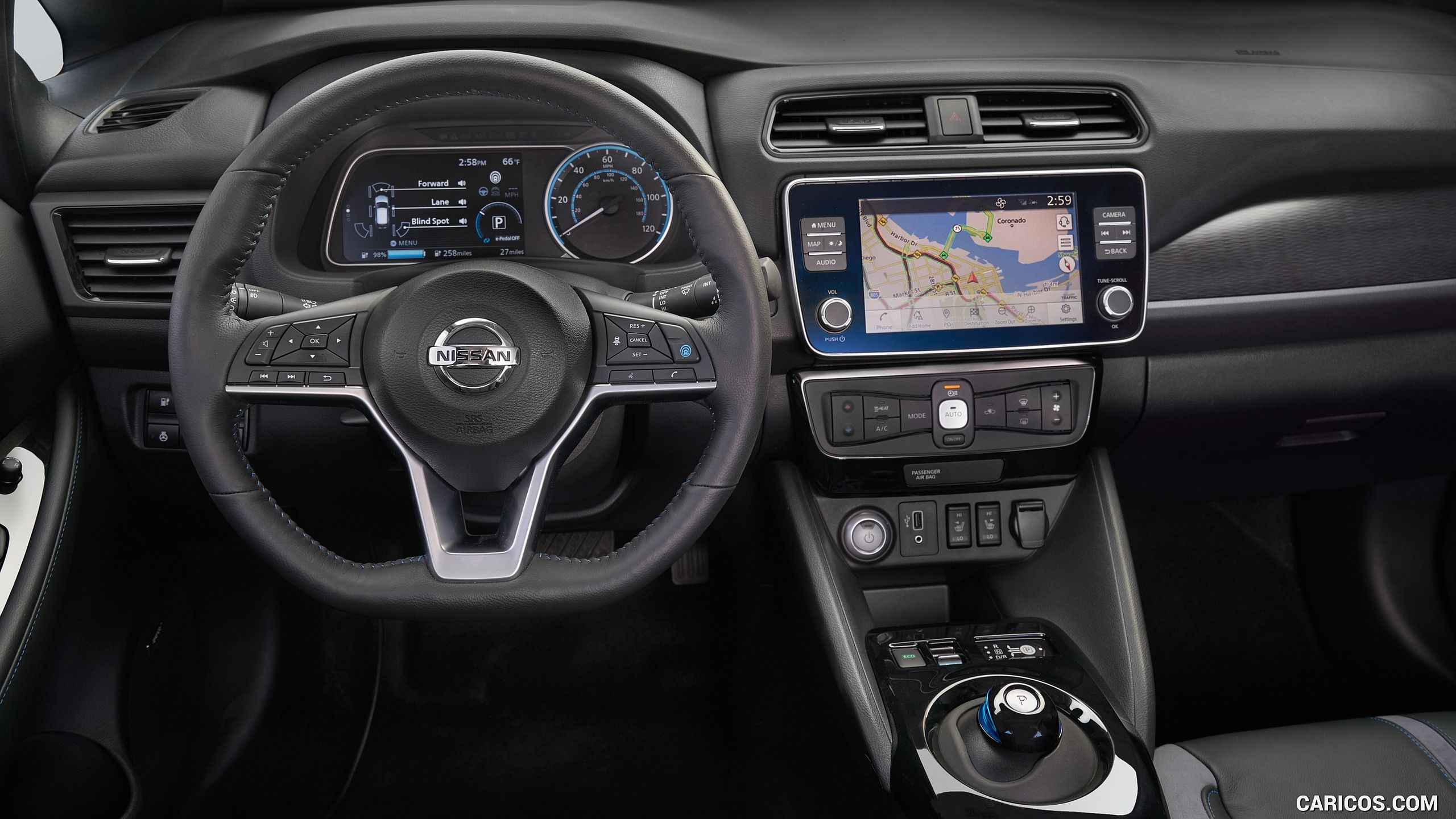 2019 Nissan Leaf E Interior Cockpit Hd In 2020 Nissan Leaf Nissan Nissan Leaf Interior