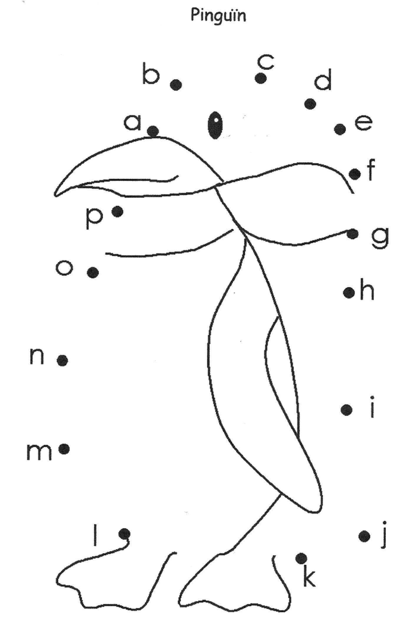 Werkblad Geletterdheid Pinguin