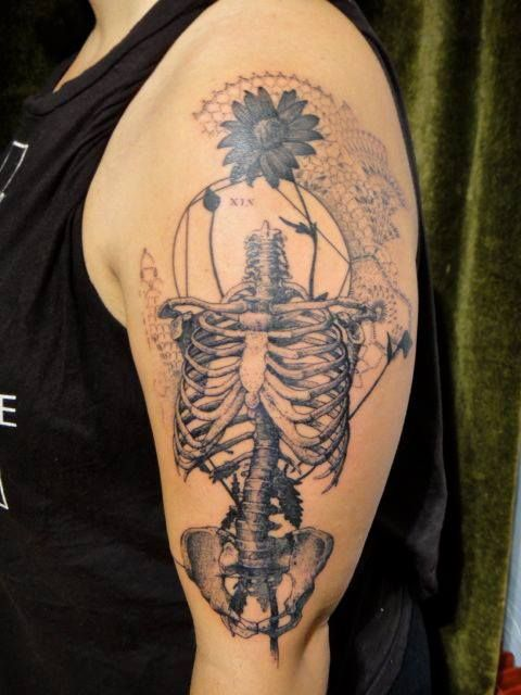 Xoil Skeleton Flower Tattoo Ink Thats Awesome Tattoos