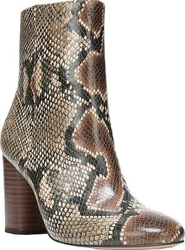 32d315376a89 Sam Edelman Women s Shoes in Brown Snake Print Leather Color. Complement  your look in the Sam Edelman Corra Bootie. With mid-calf styling and a  round ...