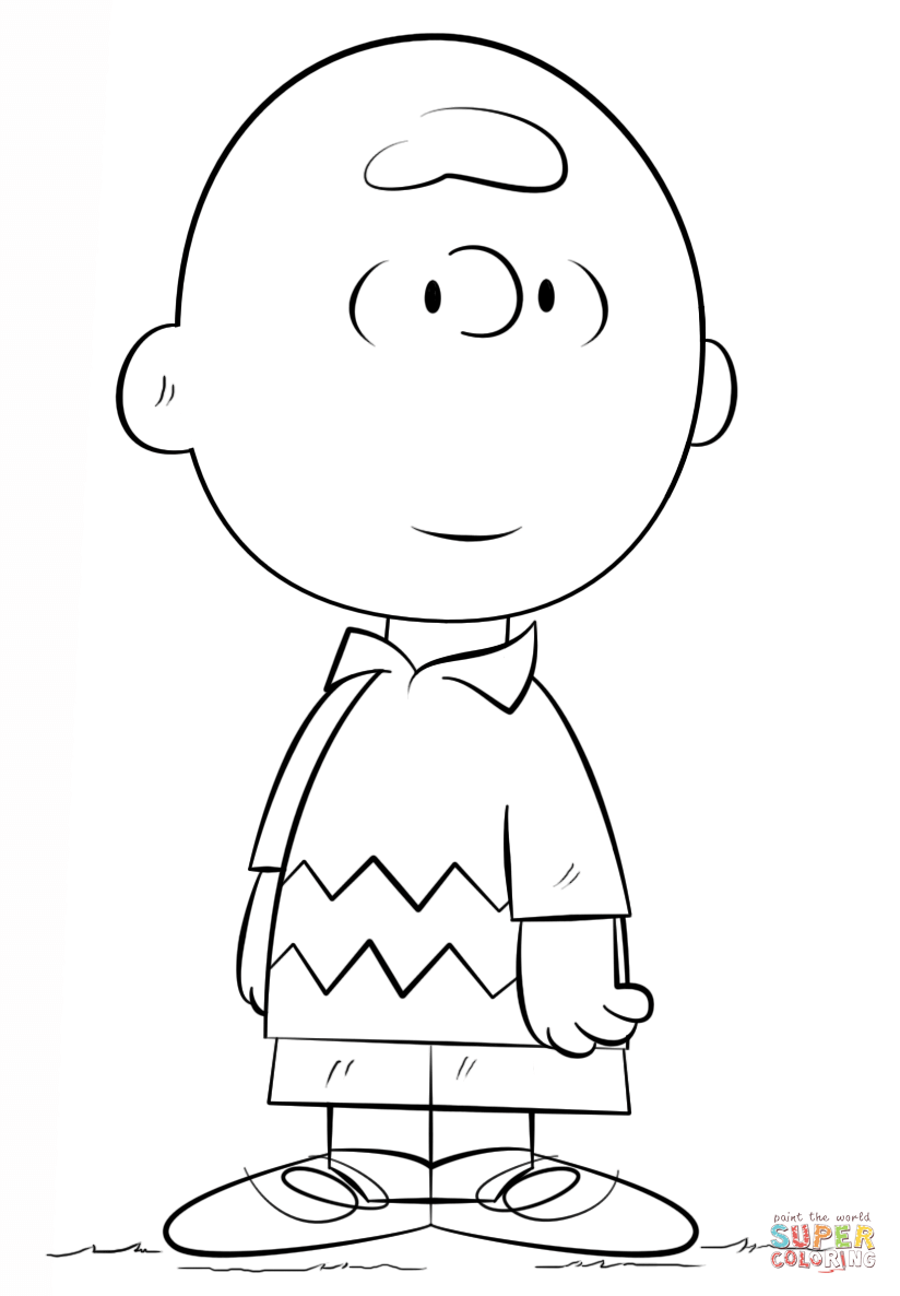 Charlie Brown coloring page | Free Printable Coloring Pages | 手書き ...