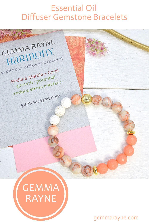 Essential Oil Diffuser Bracelet, Gemstone Beaded Bracelet, Aromatherapy Jewelry, Jewelry Gifts