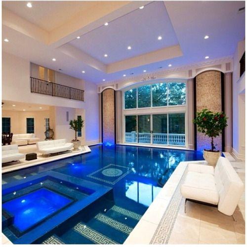 Modern Pool With Slide