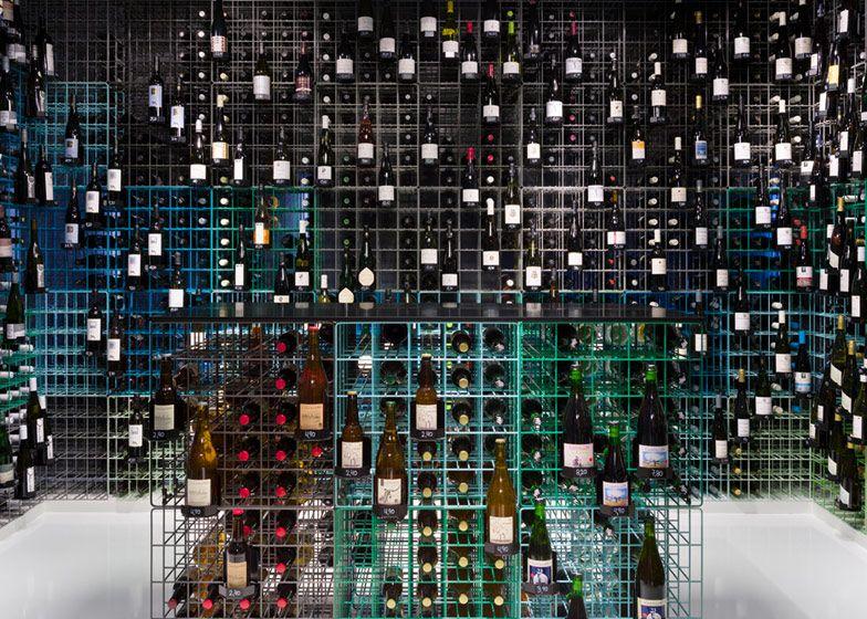 Weinhandlung Kreis wine shop interior by Furch Gestaltung + Production