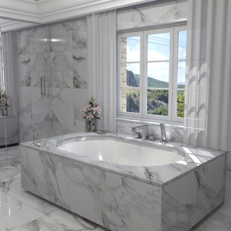 Charming Luxury Bath For Laying Under Marble With Peripheral Overflow Device. This  Generously Sized Bathtub Has Been Built For Relaxation And Comfort And Has  The ... Idea