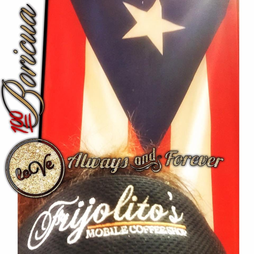 Here's Frijolito's Mobile Coffee at the Puerto Rican Latin Grill in #Arizona. FMC is a Mobile Espresso Bar with a Latin Twist. Try our #ElCoquiLatte  El savor te  hace cantar / The flavors will make you sing!!!
