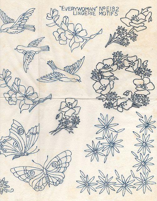 Lingerie motifs | Bordado, Dibujo y Himajenes