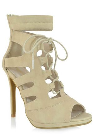 Shoe Republic Fasano Dress Sandals in Nude
