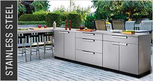 Newage Stainless Steel Outdoor Kitchens Newage 65311 Aluminum Slate 2 Piece Outdoor Kitchen Set In 2020 Outdoor Kitchen Outdoor Kitchen Cabinets Kitchen Sets