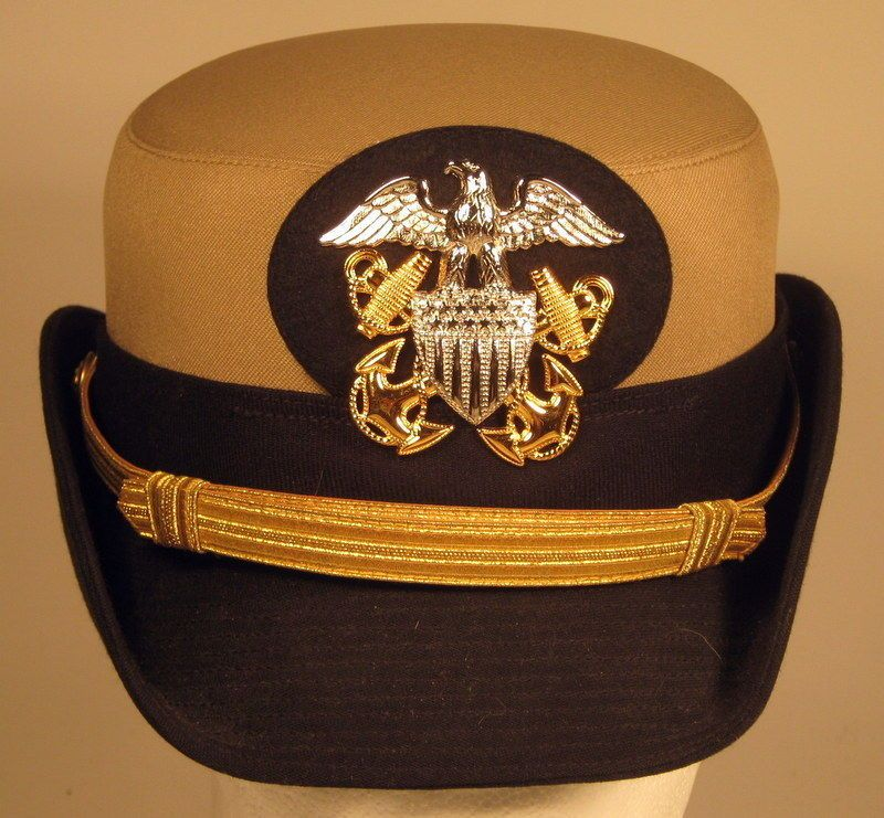 f294f3cd USN US Navy Naval Female Officer Khaki Dress Hat Cap | Military ...