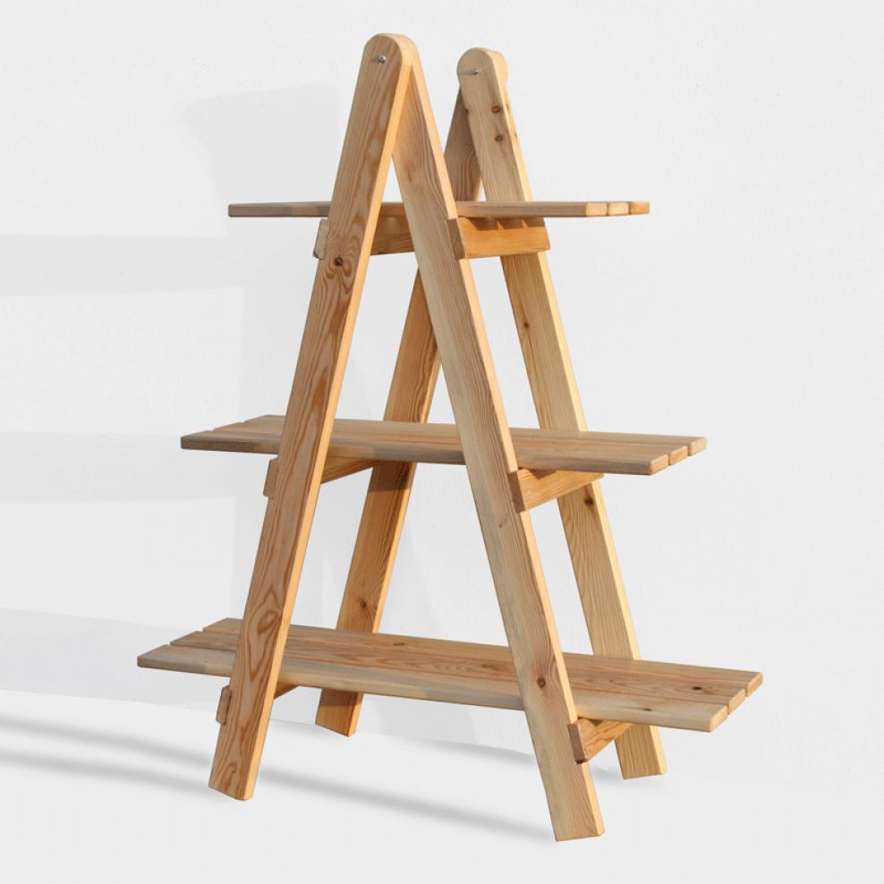 Cajonera kit escalera decorativa de madera de pino b ltico for Escalera de madera al aire libre precio