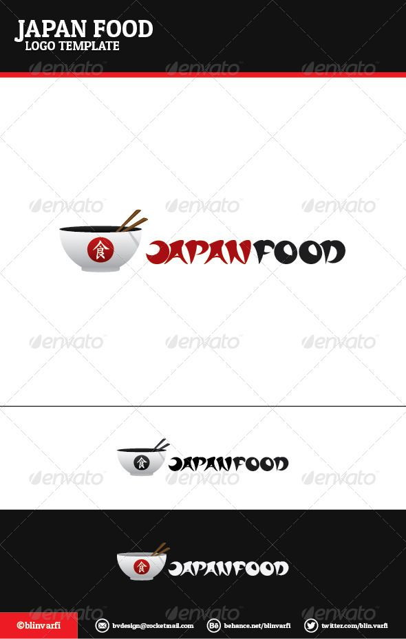 Japan Food Logo Template | Food logos, Logo templates and Ai illustrator