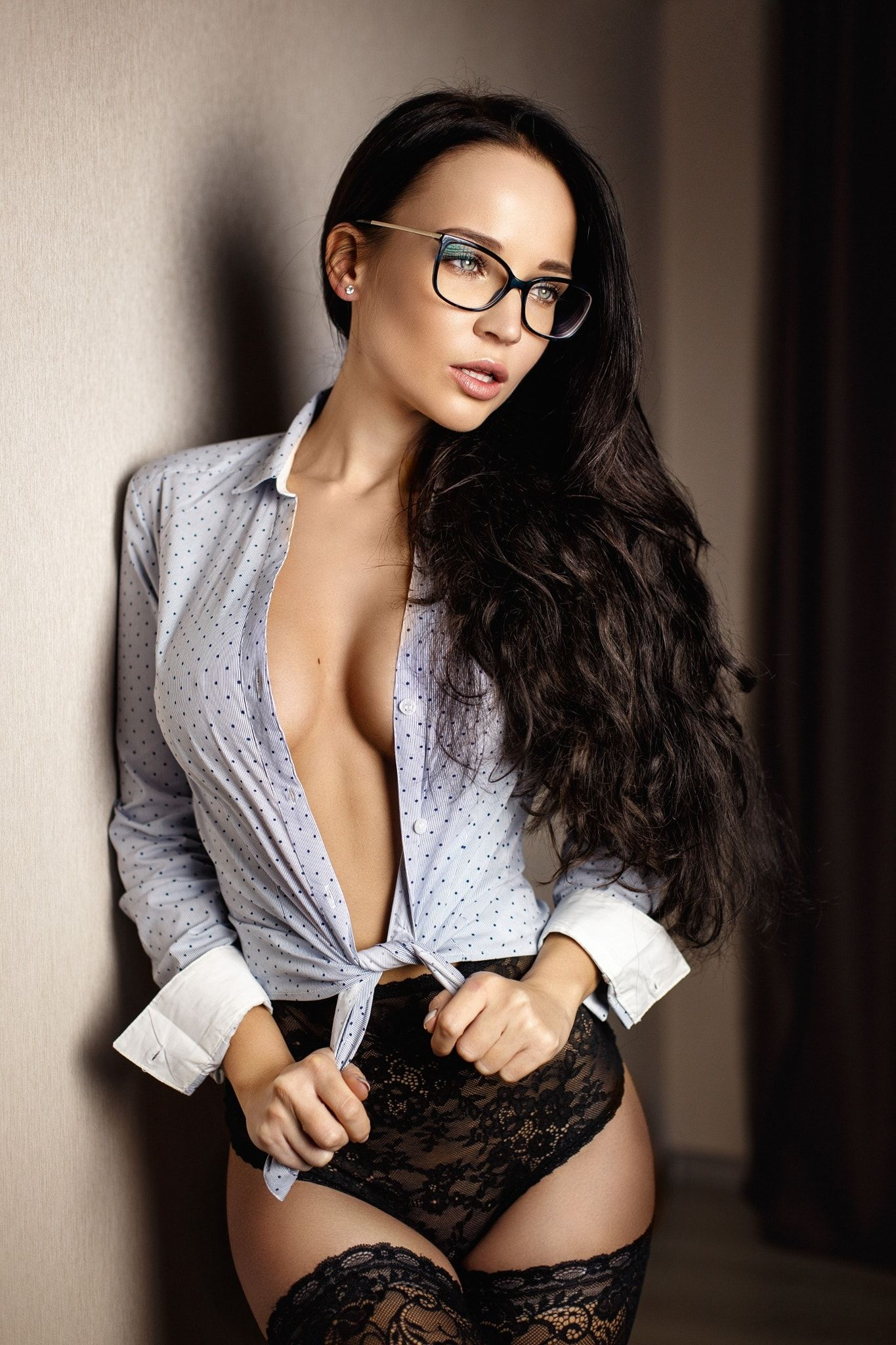 Sexy Teacher Sexy Angelina In A Glasses