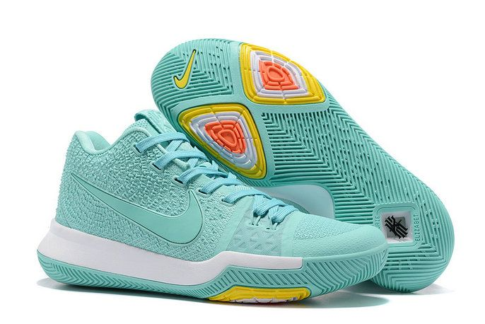 competitive price 6558d 9ba87 Nike Zoom Kyrie 3 Mens Original Basketball Shoes Light Mint Green White
