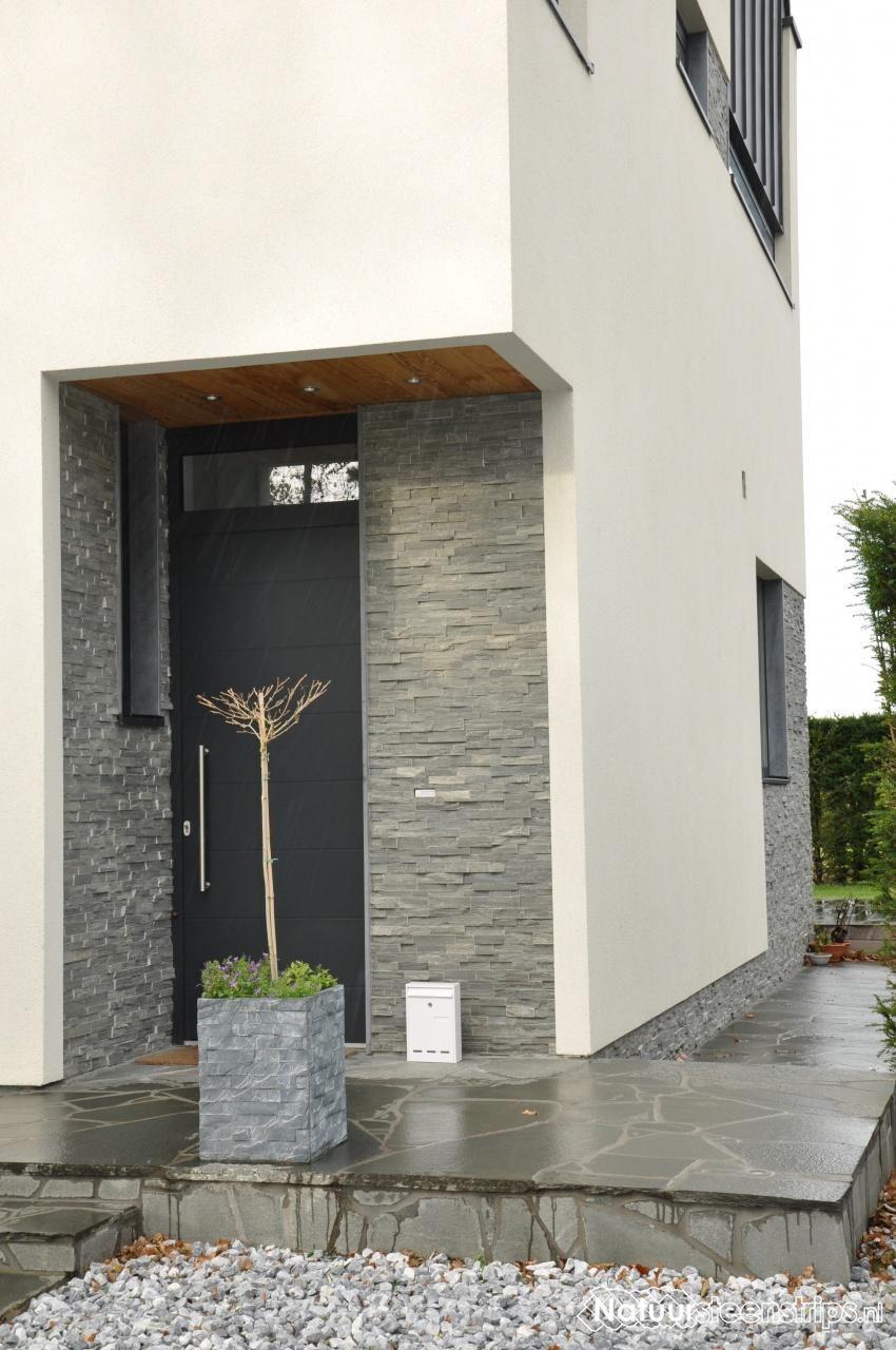 Natuursteenstrips verwerking richting ramen en deuren. U kiest het beste voor een afdekplint.