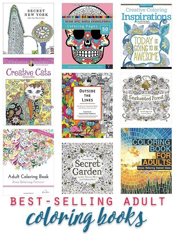 Best Selling Adult Coloring Books