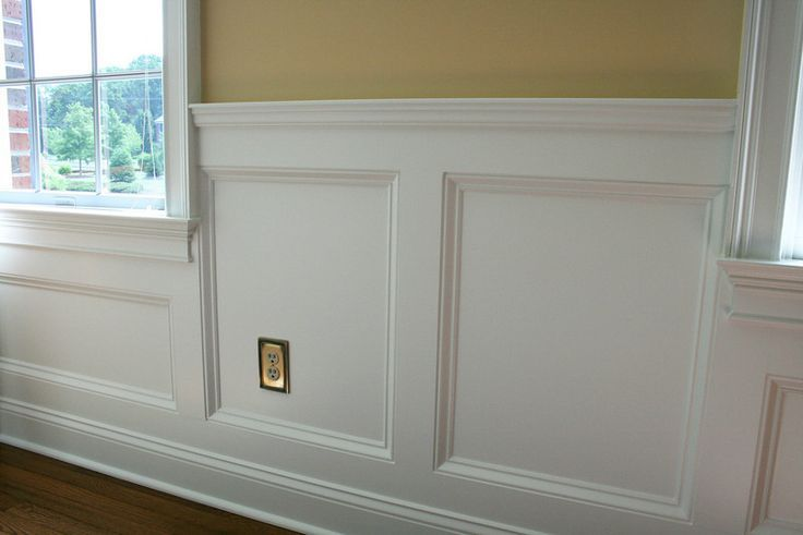 Wainscoting Is Installing Wooden Trim And Panels In A Pattern Along The Lower Wall Here