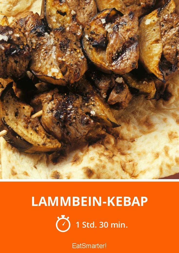 Lammbein-Kebap - mittel - Eine Rezeptidee von EAT SMARTER   Fleisch, Fruchtgemüse, Gemüse, Ferienküche, Arabisch, Asien, Türkisch, Grillrezepte #lamm #rezepte