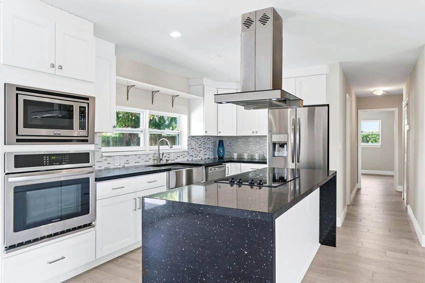 White Kitchen Cabinets With Dark Countertops Dark Countertops