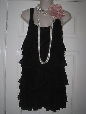 h m tambour charleston gatsby ann es 20 noir chelonn robe s 39 uk 10 ou sm 12 ann e. Black Bedroom Furniture Sets. Home Design Ideas