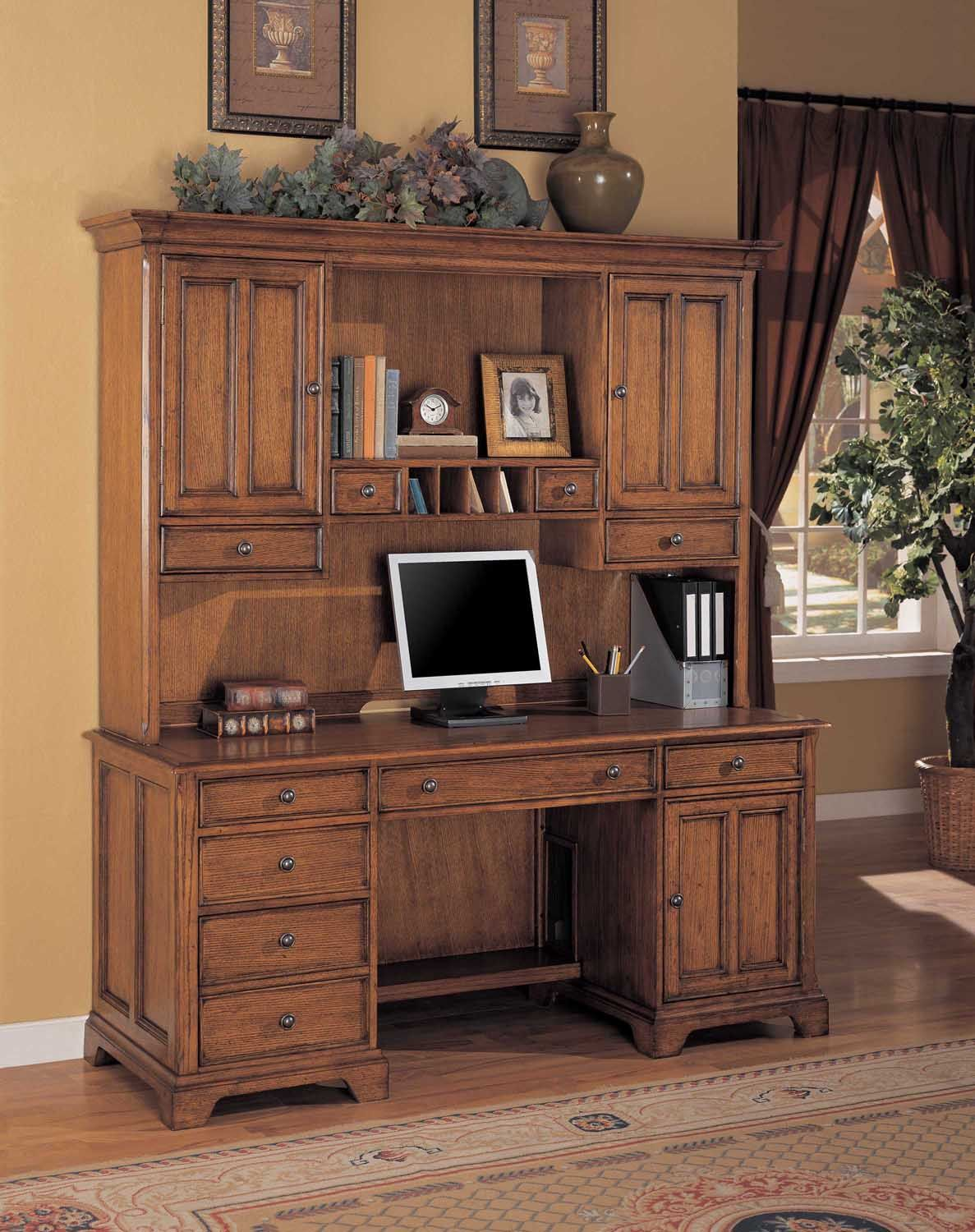 credenza with hutch desk sets home office furniture