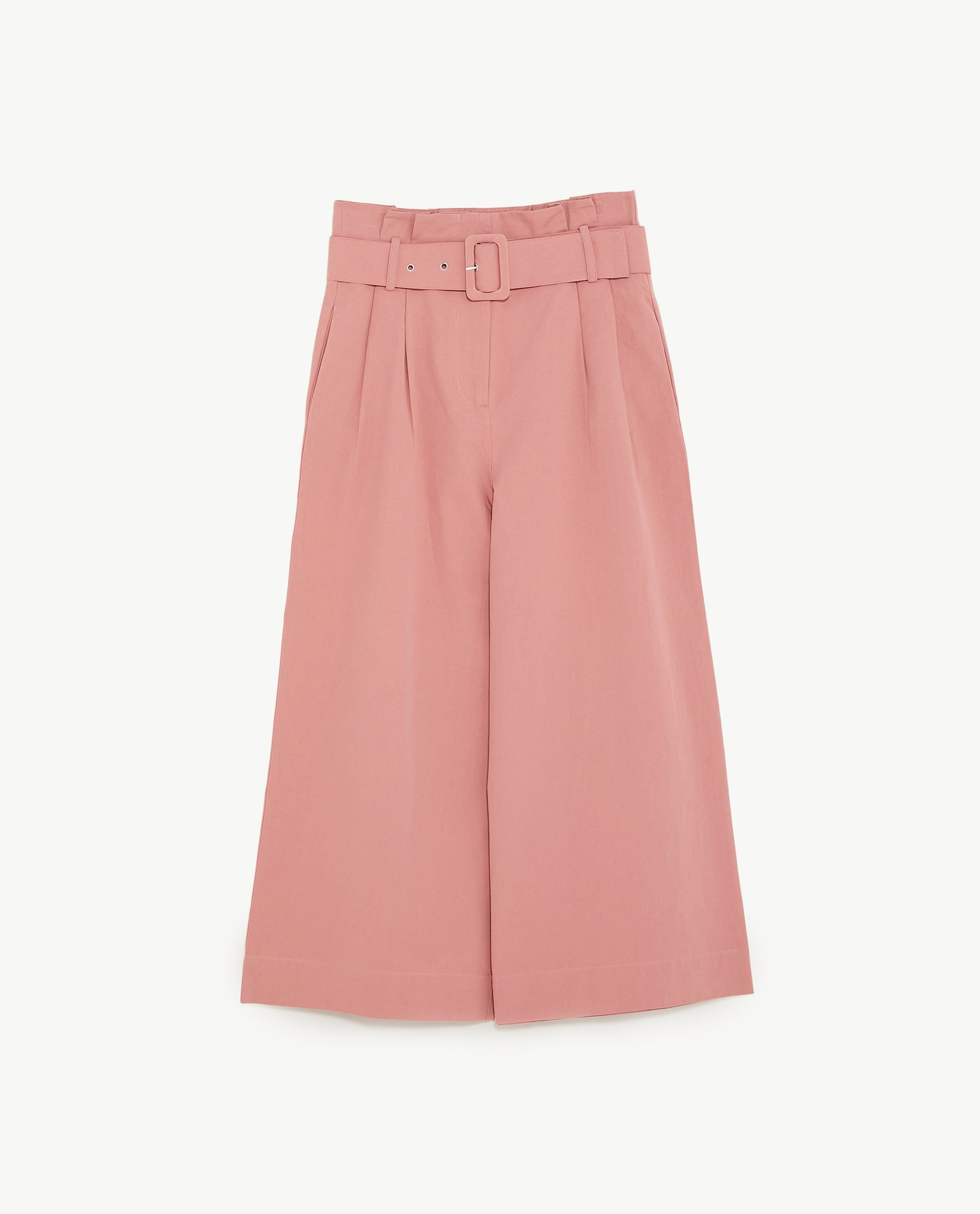 eaaaef10 Image 6 of TROUSERS WITH BELT from Zara Pink Trousers, Trousers Women,  Palazzo Trousers