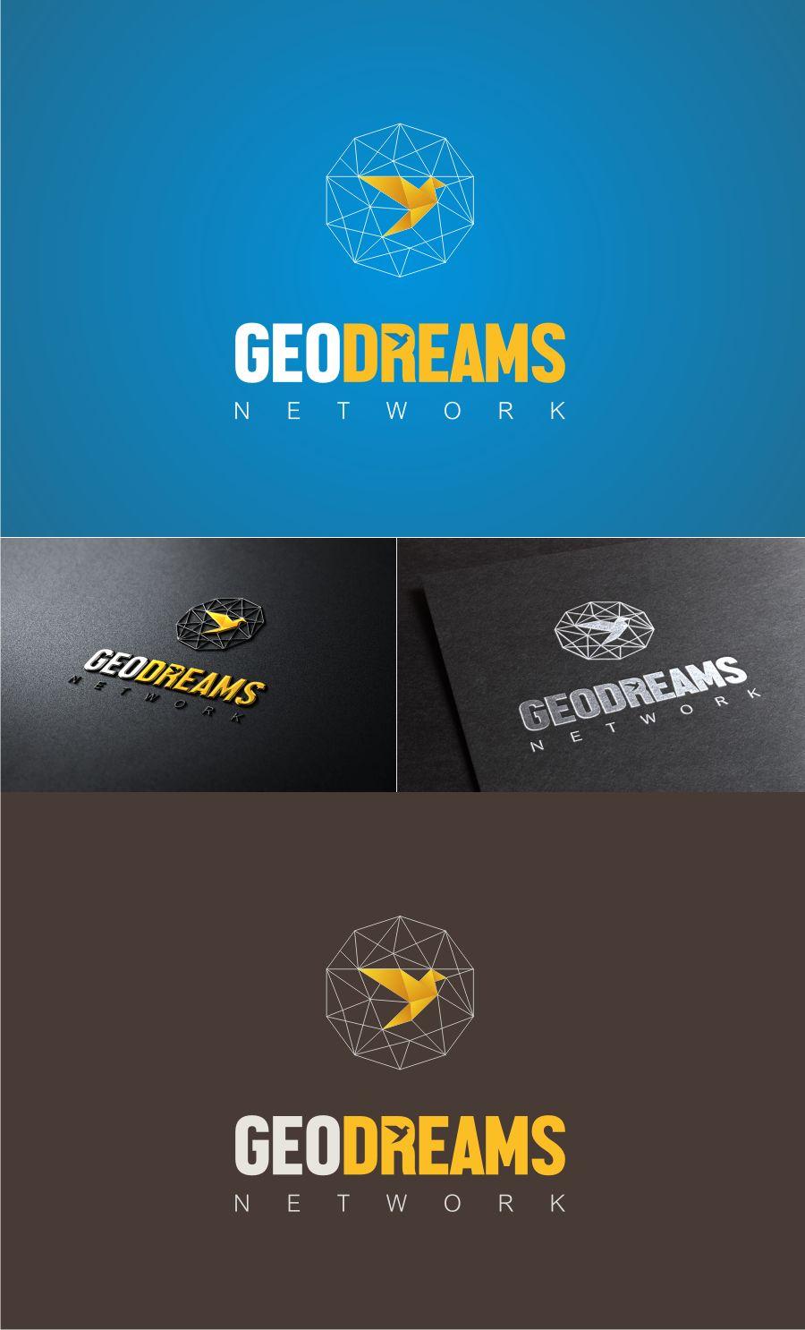Geodreams Network A Geospatial Education Techno Modern Playful Logo Design By Alex Yaroshenko Social Media Calendar Educational Technology Logo Design