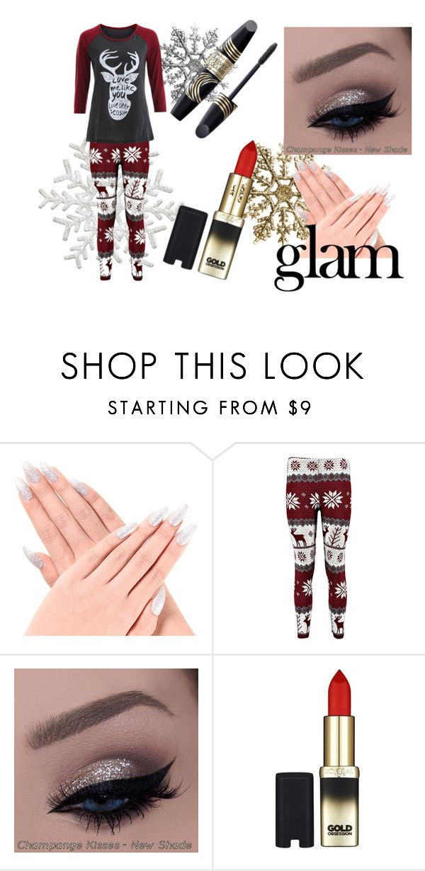 """Holiday"" by amypage-1 ❤ liked on Polyvore featuring beauty, Naeem Khan, Max Factor and L'Oréal Paris"