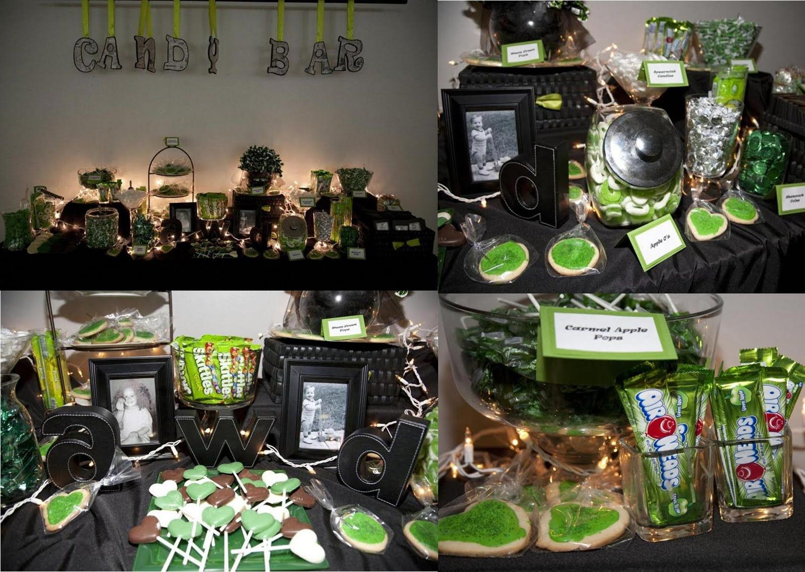 lime green and black wedding theme | Lime green and black candy ...