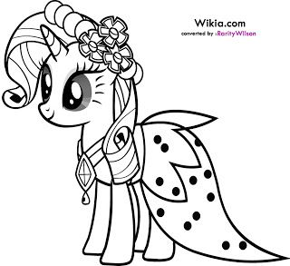 My Little Pony Rarity Coloring Pages My Little Pony Coloring