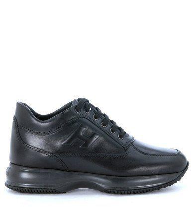 HOGAN. Black Leather SneakersShoes SneakersFlatsBlack Leather  TrainersSneakers