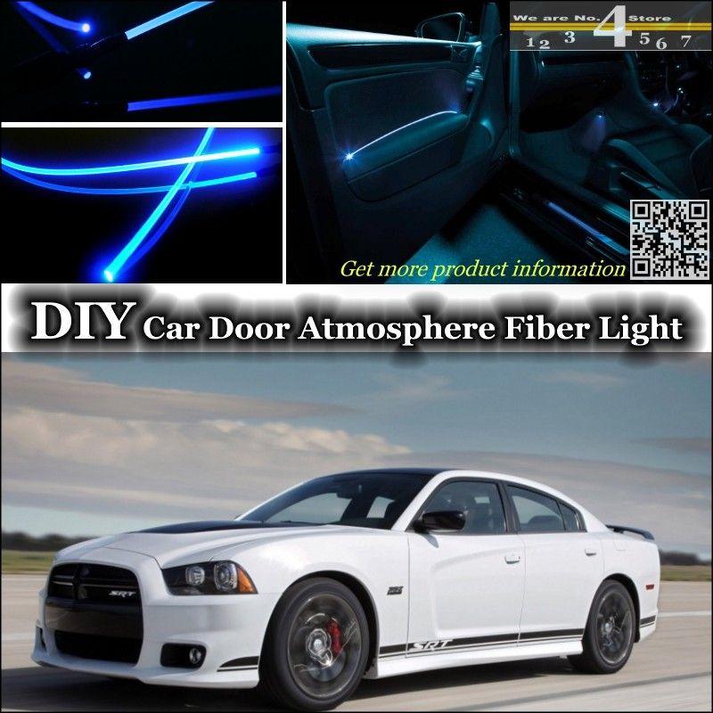 For Dodge Charger 2006 2015 Interior Ambient Light Tuning Atmosphere Fiber Optic Band Lights Door Panel Illumination Car Lights Car Gadgets Lights