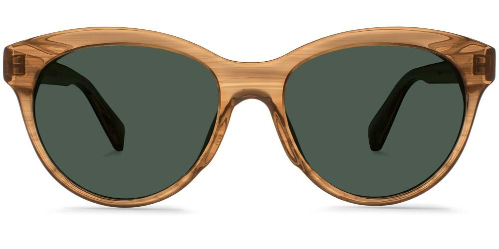 3a54b70c11 Piper Sunglasses in Woodland Tortoise with Grey Gradient lenses for Women.  Piper is a wide frame with an understated cat-eye and a sloping browline.