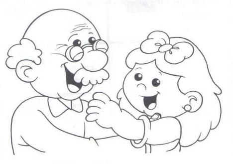 Lastscan192 Abuelos Para Colorear Dibujo Abuela Dia Del Abuelo