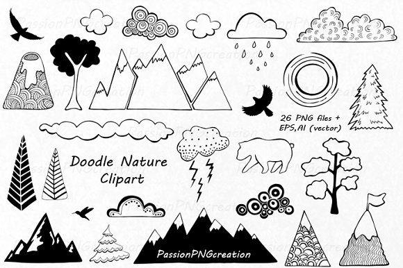 Doodle Nature Clipart Clip Art Doodles Business Illustration