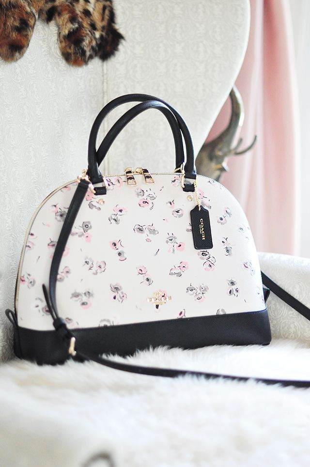 Coach Flower Print Dome Bag
