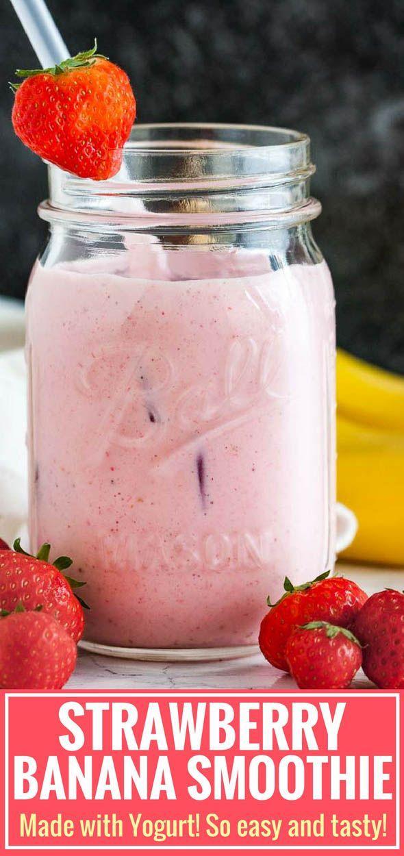 Strawberry Banana Yogurt Smoothie #fruitsmoothie