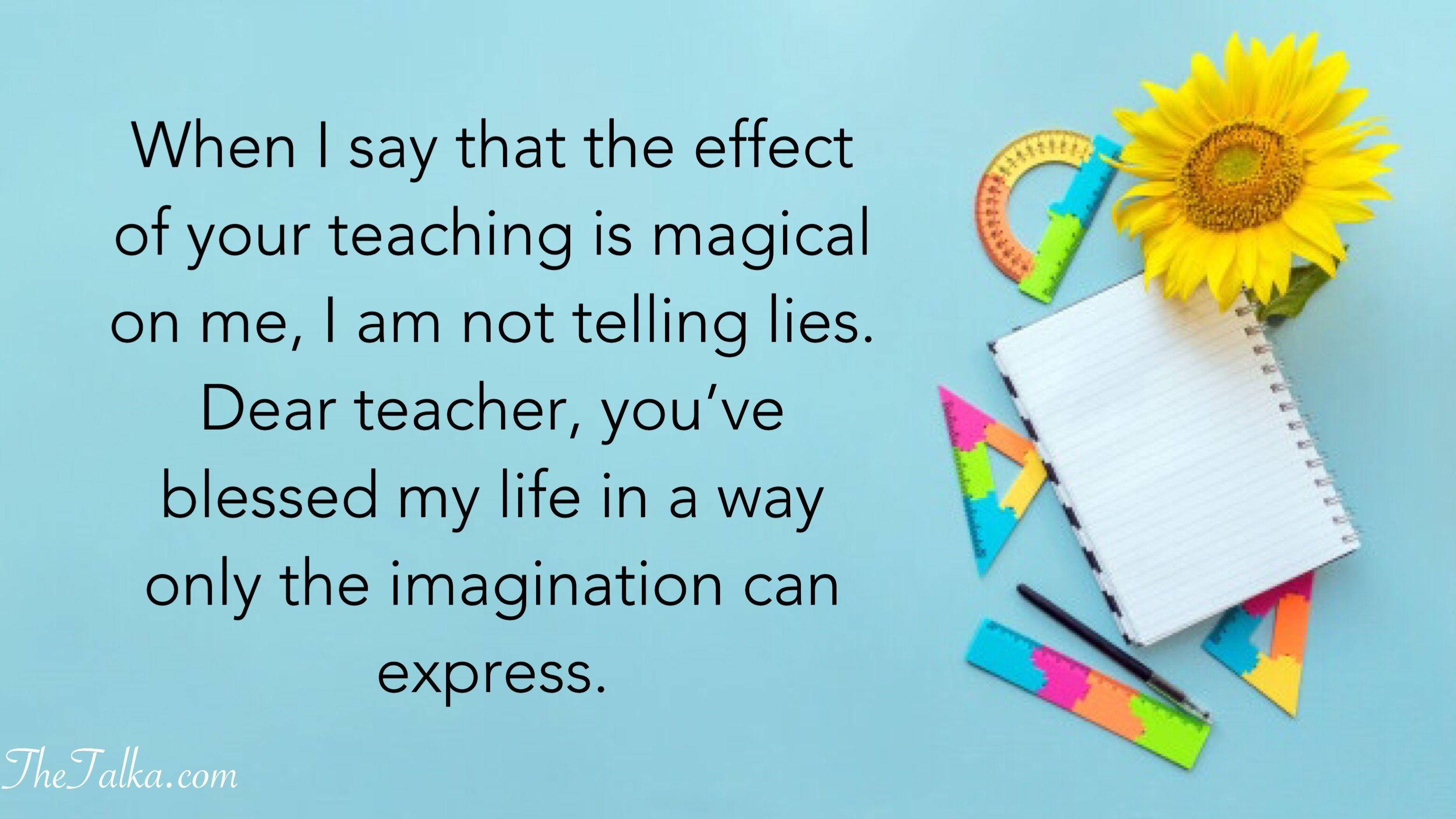 Heart Touching Thank You Messages For Teacher Message For Teacher Happy Teachers Day Message Teachers Day Message