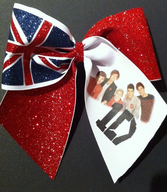 3in 1D Cheer Bow One Direction Union Jack by BowsByTeri on Etsy, $12.00